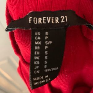Forever 21 Tops - Forever 21 Red High Neck Crop Top